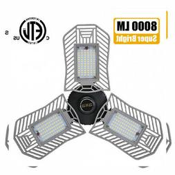 Garage Lights, 80W E26 8000 Lumens LED Garage Light, Deforma