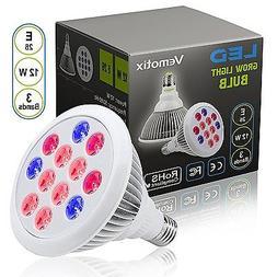 12W LED Grow Light Bulb by Vemotix- Plant Light Bulb E26 - B