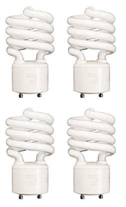 4 Pcs 18 Watt GU24 Twist-N-Lock Base CFL Light Bulb , Cool W