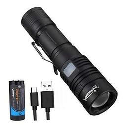 H010 Tactical LED Flashlight 4000 High Lumens Powerful XHP50