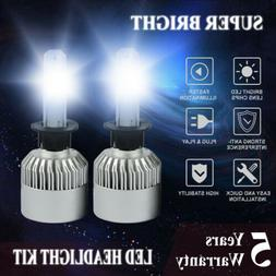 H1 LED Headlight Bulbs Conversion Kit 2500W 375000lm 6000K W