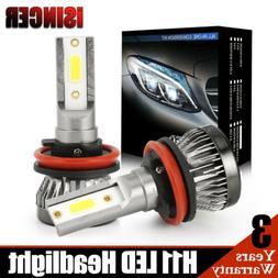 H11 H8 Mini Size COB LED Headlight Conversion Bulb Hi/Lo Bea