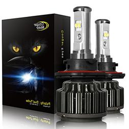 Cougar Motor H13 LED Headlight Bulbs, 9008 High/Low All-in-O