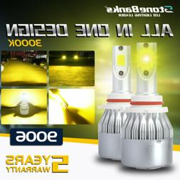 HB4 9006 LED Headlight Bulb Low Beam 3000K Golden Yellow 100