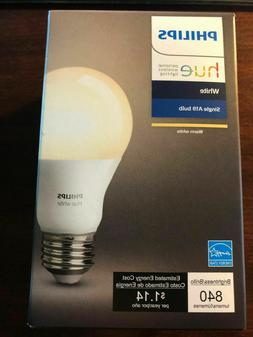 Philips Hue 455295 9W A19 Single White LED Bulb 840L Brand N