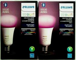 Philips Hue Color Ambiance A19 LED Dimmable Smart Light Bulb