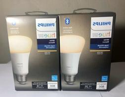 Philips Hue White A19 2-boxes Dimmable LED Smart Bulb w Blue