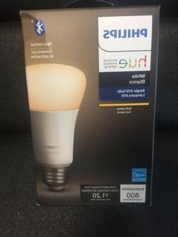 Philips - Hue White A19 Bluetooth Smart LED Bulb - 476861, N