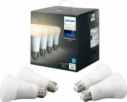Philips - Hue White A19 Bluetooth Smart LED Bulb  - White