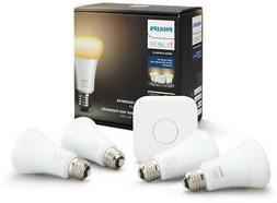 LED Bulbs Hue White Ambiance Starter Kit 4 Pack A-Line Shape