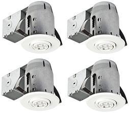 "Globe Electric 3"" LED IC Rated Swivel Round Trim Recessed Li"