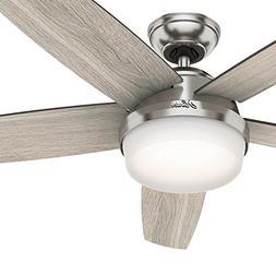 Hunter Fan 54 inch LED Indoor Brushed Nickel Ceiling Fan wit