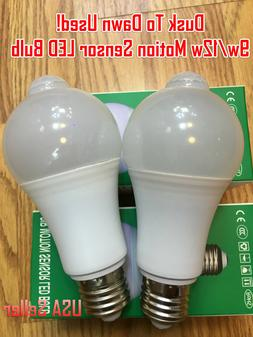 Indoor/Outdoor Motion Sensor Light Bulb Motion Activated LED