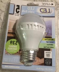 K-LITE LED LIGHT BULB/MEDIUM BASE Uses Only 5 Watt/40W Repla
