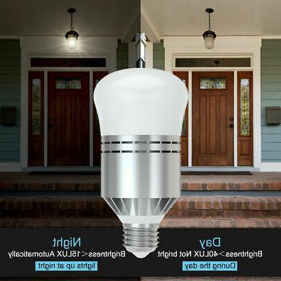 12W Dusk to Dawn Porch Light Bulb LED Photo Sensor LED