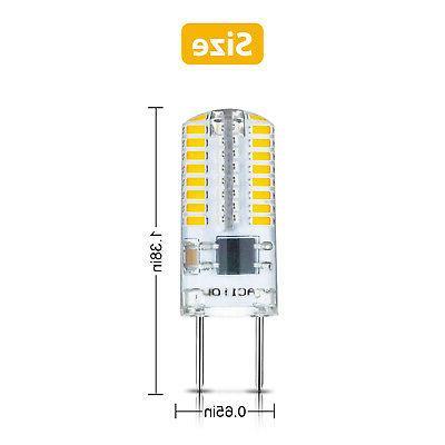 10pcs G8 Bulb Lamp T5 3014 Cabinet Warm White