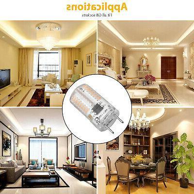 10pcs G8 Bulb Lamp 3014 Kitchen Cabinet Warm White 120V