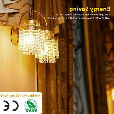 10pcs G8 Bulb Lamp T5 3014 Lighting Warm White