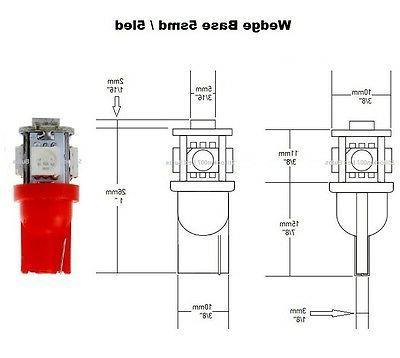 10 Voltage Landscape LED bulbs RED bulb