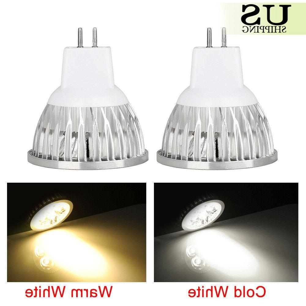 10Lot 6W 9W 12W MR16 LED Light Bulbs AC DC 12V COB Spotlight