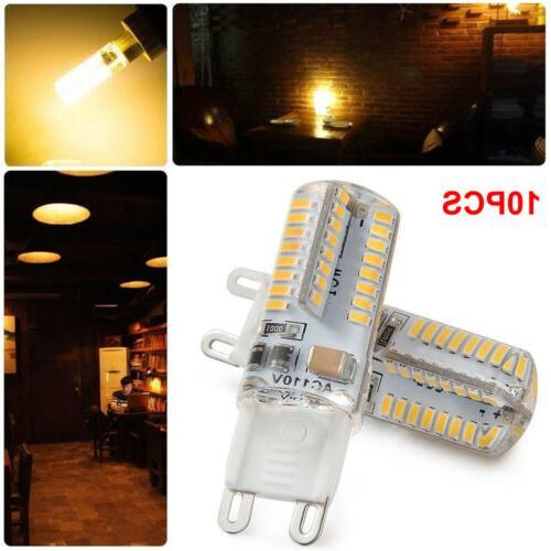 10 Pack LED G9 Warm/Daylight White LED Corn AC US