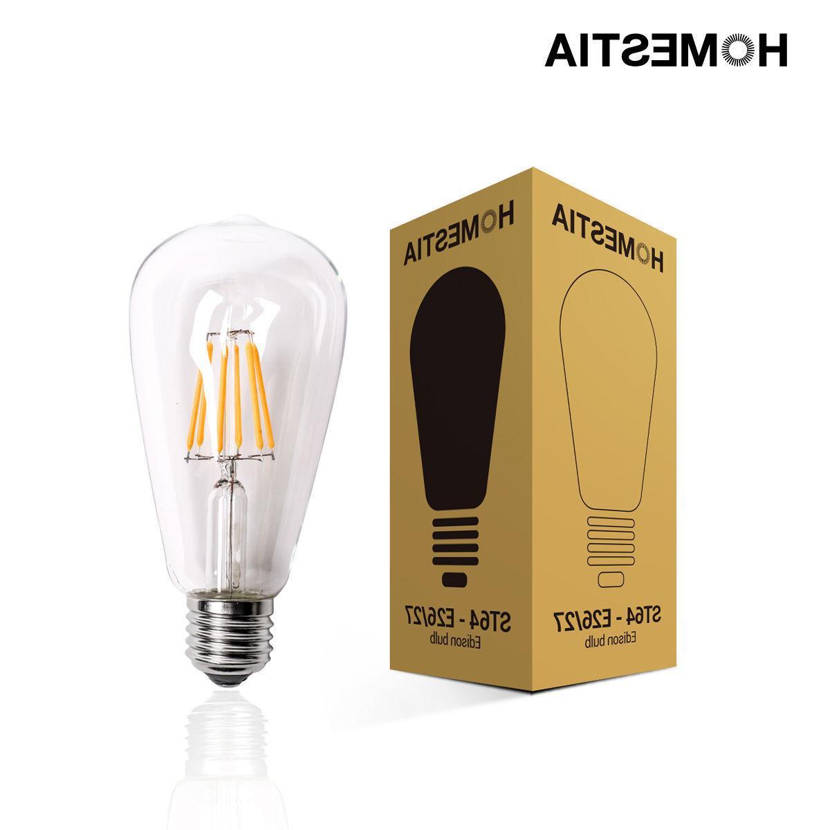 LOT-10 Vintage E27 Screw Filament Bulb Light
