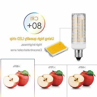2pcs E11 LED Light Bulb 9W 110V Dimmable Ceramics Ceiling Fan Lamp