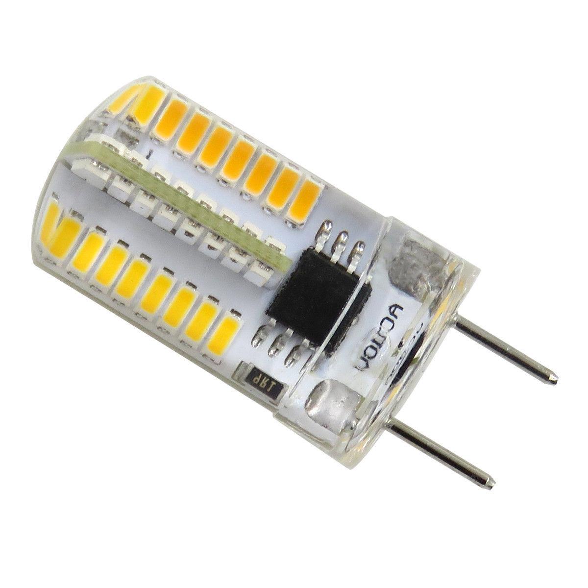 10pcs Bi-Pin 64 3014 Light Bulb 110V Warm