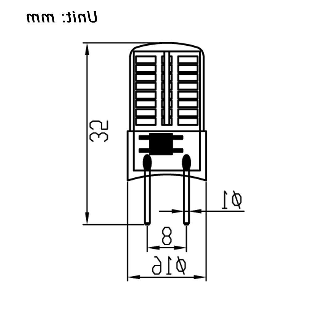 10pcs G8 G8.5 T5 Led Light Bulb 64-3014SMD
