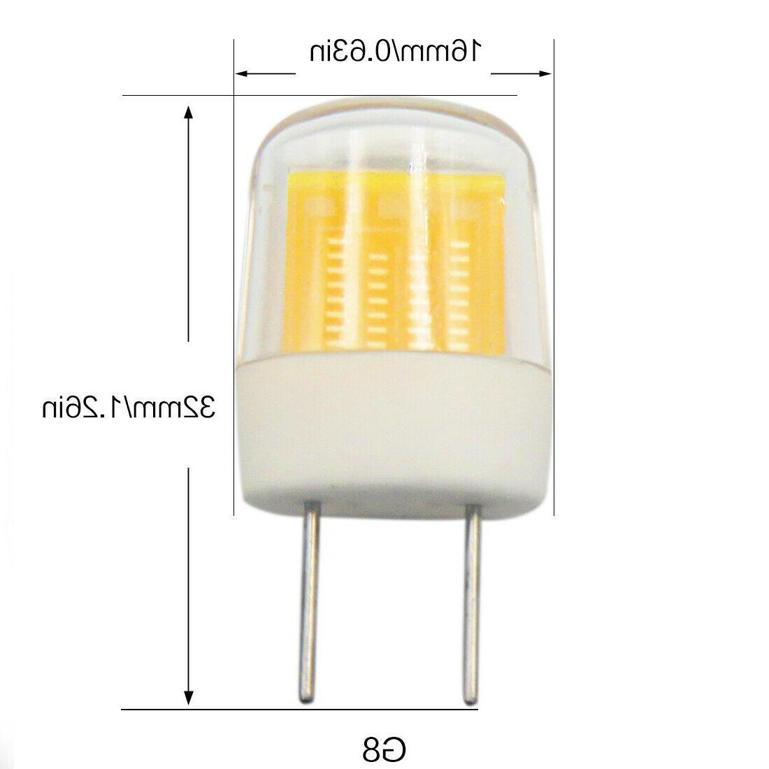 10pcs G8.5 Bulb Ceramics 120V 3W Warm