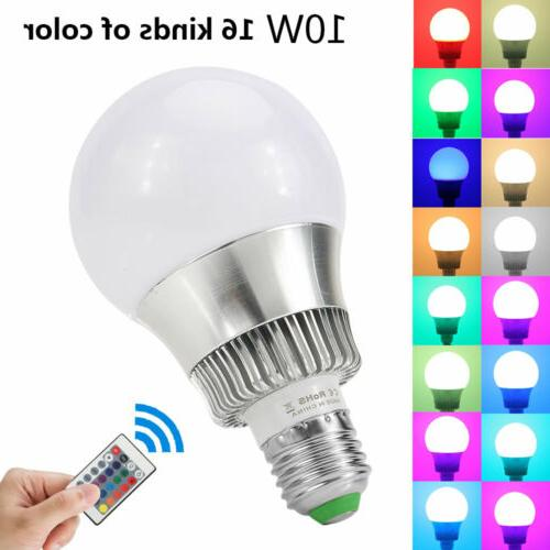 10W E26 Light Bulb Color Changing Magic Memory Control