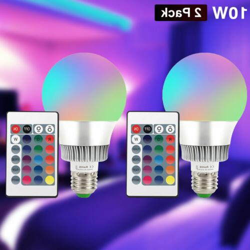 10W E26 RGB Light Bulb Changing Magic Memory Control