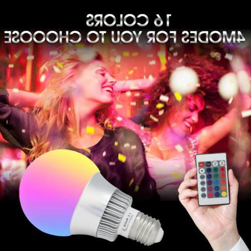 10W E26 Light Bulb Multi Changing Memory