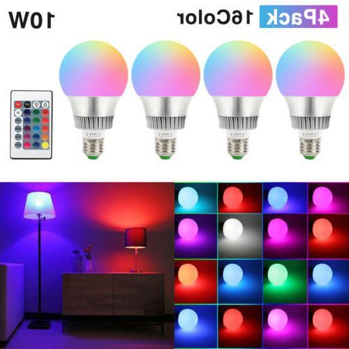 10w e26 rgb led light bulb multi