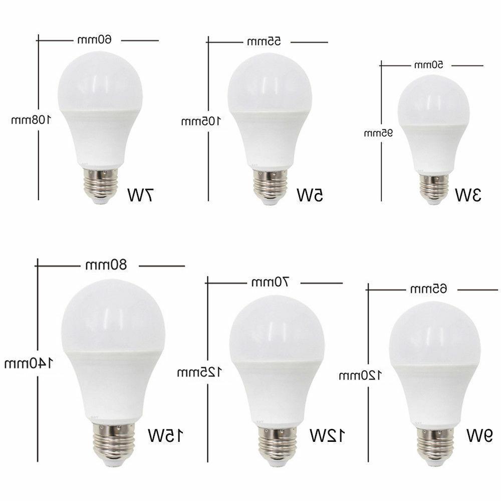 12/9/7/5/3W E27 Bulb Lamp 85-265V