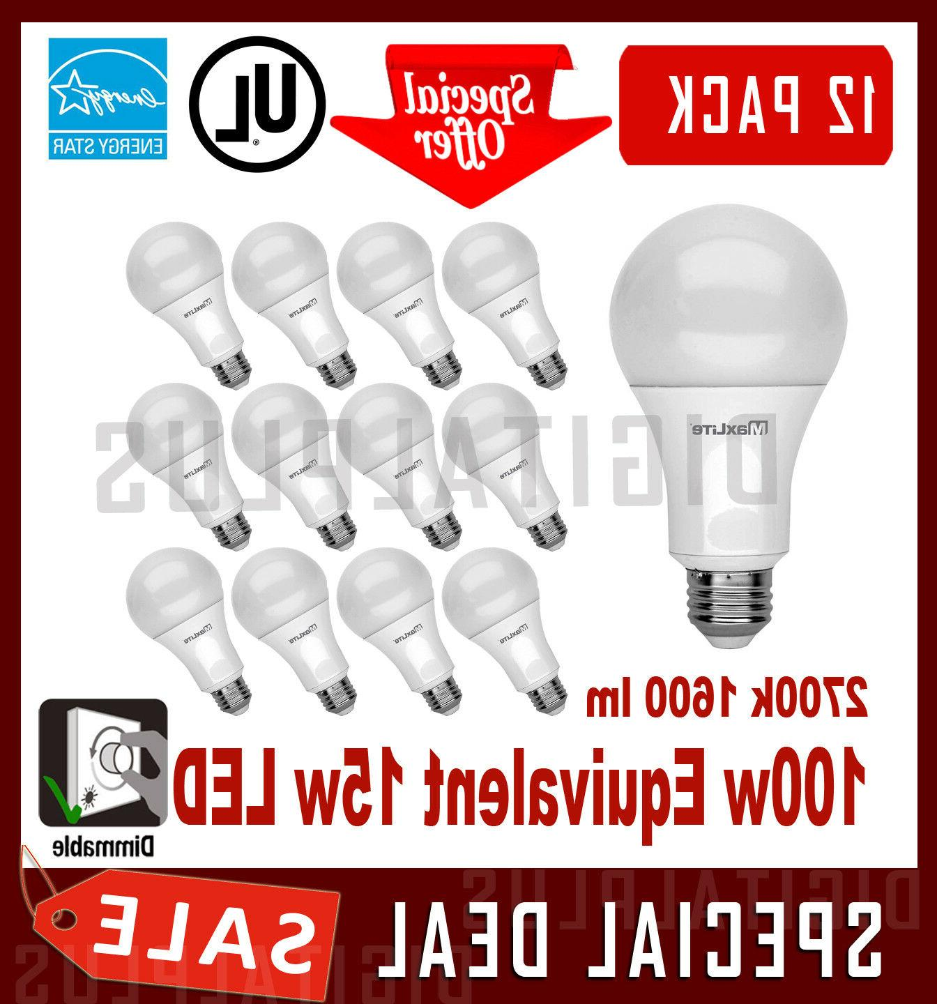12 led light bulbs 15w 1600 lumens