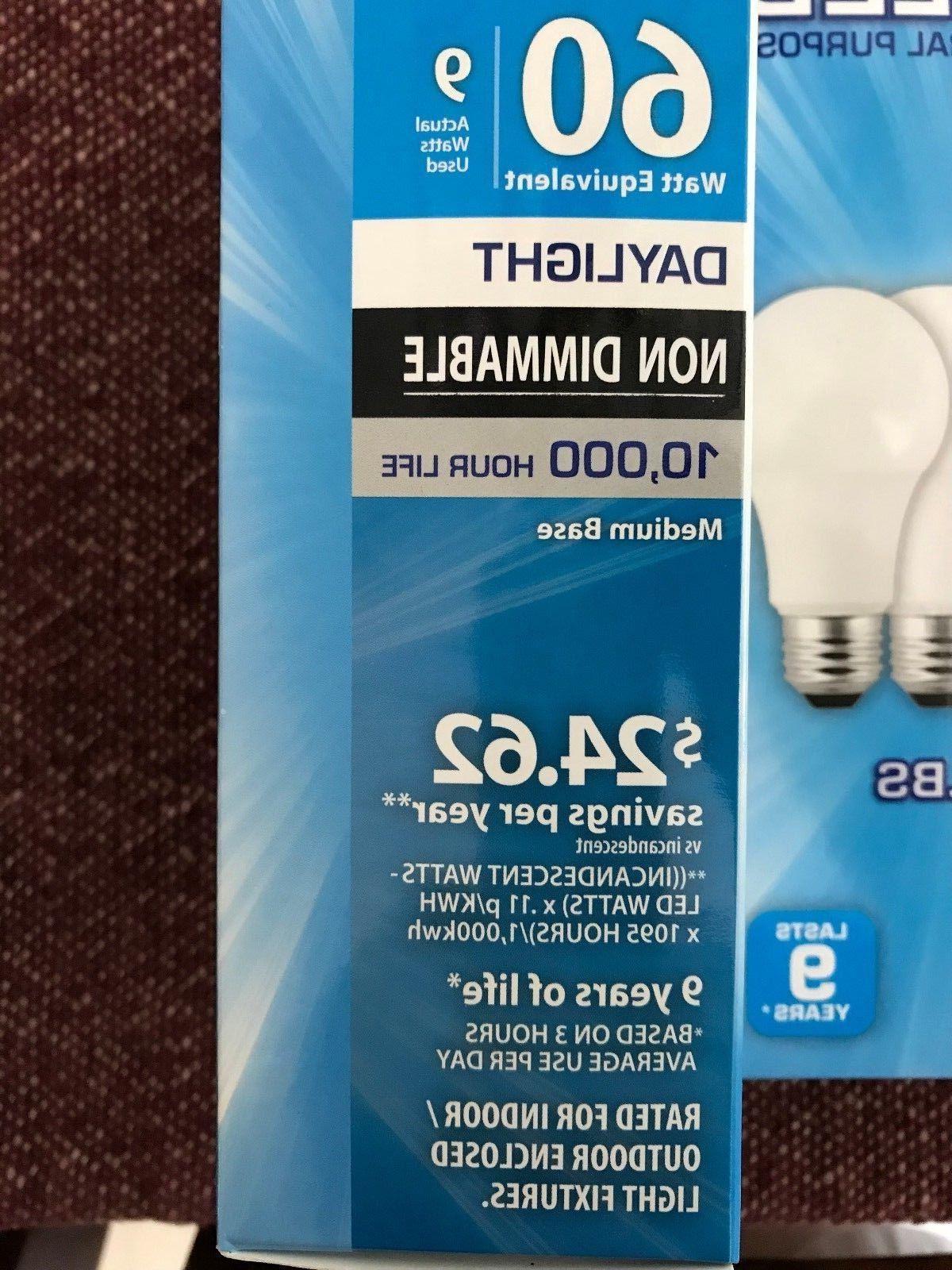 12 Pack LED 60W = Daylight 60 Watt Equivalent E26