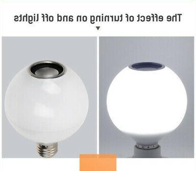 12W RGB+White E27 LED Bluetooth Music