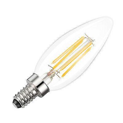 12X E12 Filament B10 Light Warm White Glass Candelabra