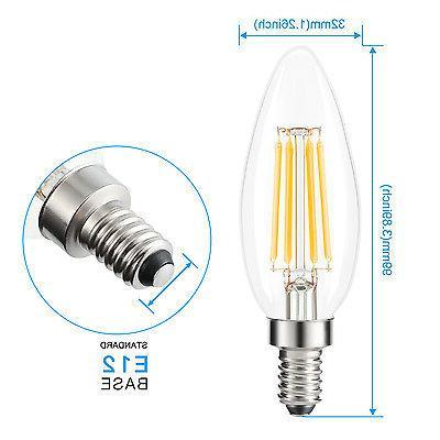 12X E12 Filament Light 2700K Warm Candelabra