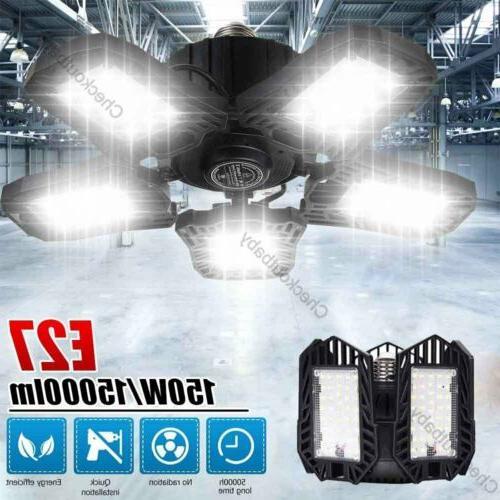 150w 15000lm led deformable garage lights e27