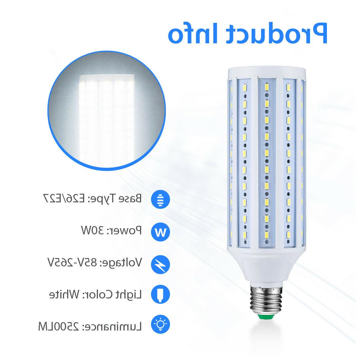 LED E27 E26 30W Garage equiva 150W