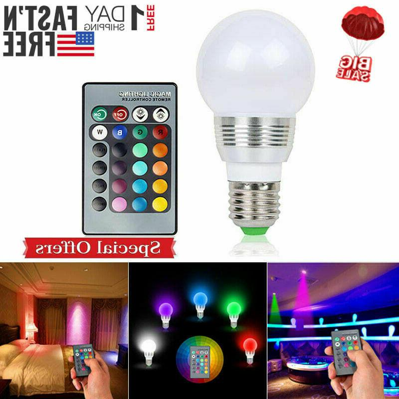 16 Color Changing Magic Light E27 3W LED Bulb + Wireless Control