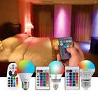 16 Color Changing Magic Light E27 RGB LED Lamp Bulb IR Remot