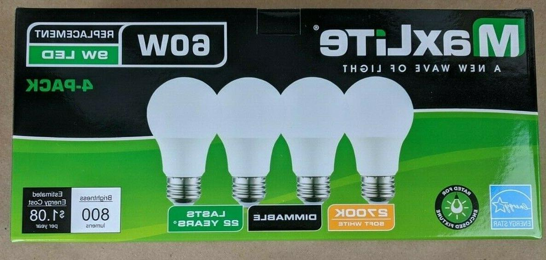16 Light Bulbs New Equivalent A19 White 2700k Lot