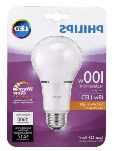 18W Equivalent Dimmable Bulb Lumens 2700K