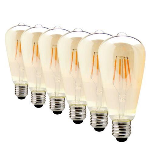 1x 4x 6x edison vintage led bulb