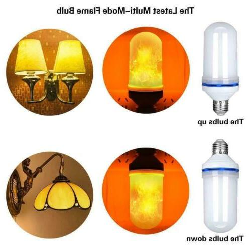 2 Pack Effect Fire E27 Simulated Lamp Decor