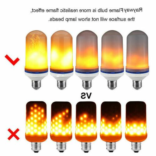 2 LED Flame Effect E27 Simulated Flicker Lamp Decor