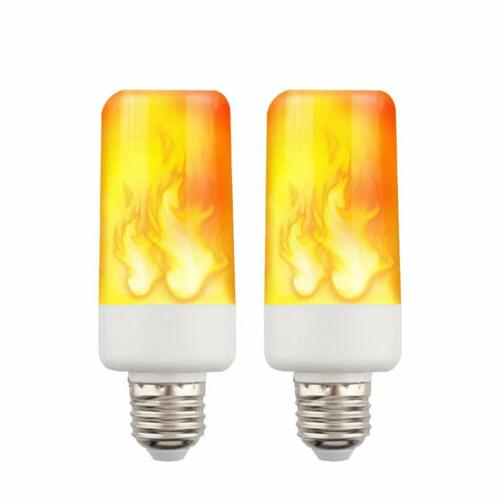 4-PACK LED Flame Fire Flickering Lamp